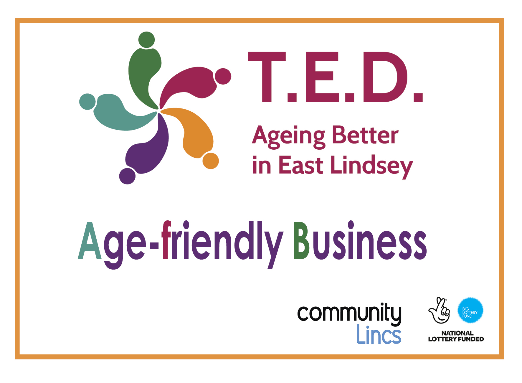 Age friendly businesses in East Lindsey | T E D